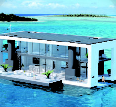 The best sustainable, innovative and autonomous houseboat